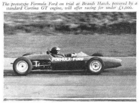 La première Formule Ford